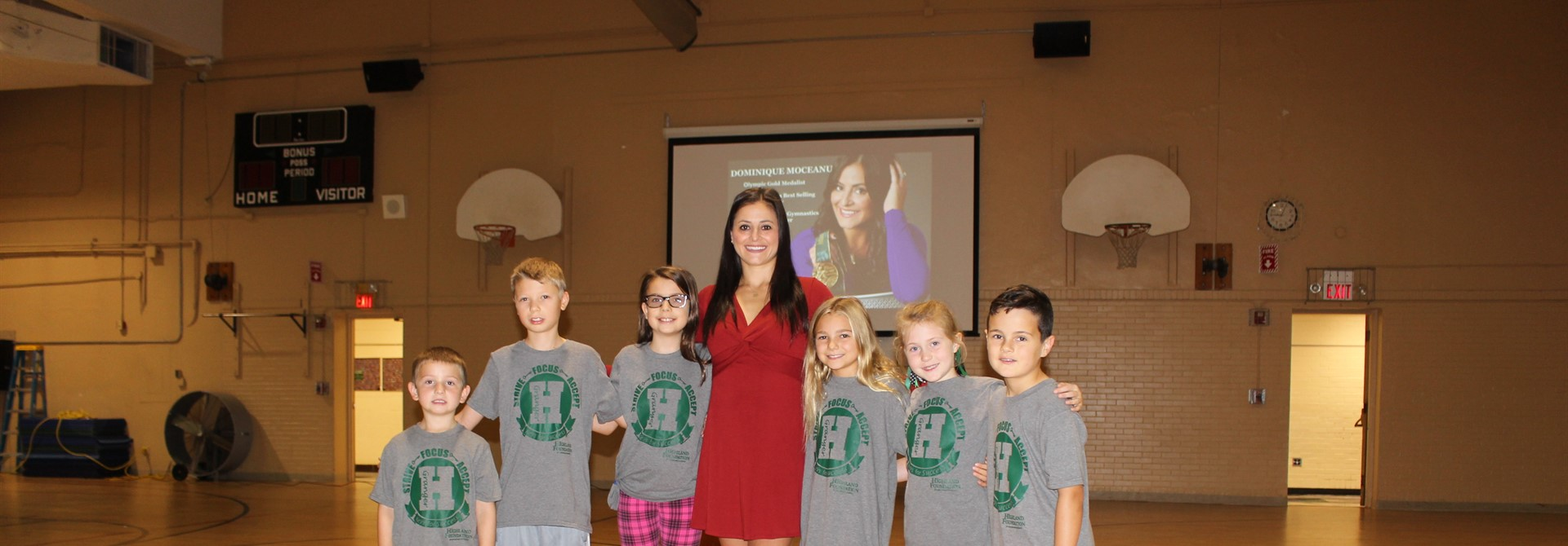Olympic Gymnast Dominique Moceanu Visits Granger Elementary