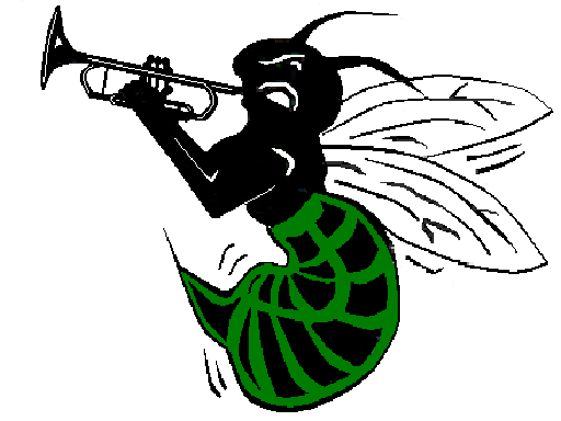 Graphic of Highland Hornet playing a horn