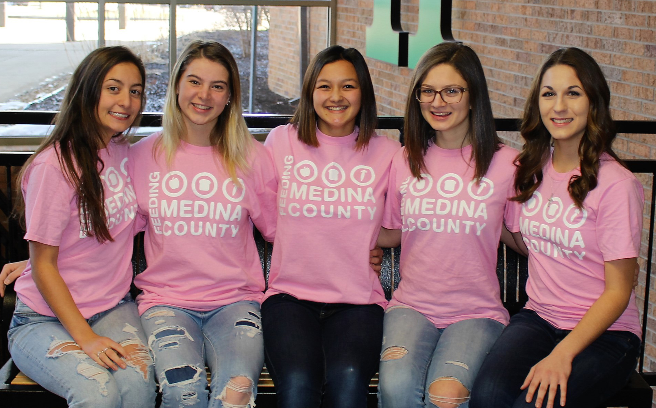 Pictured from left are Annamarie DiGiacobbe, Kaila Oberhaus, Bethany Yu, Brianna Kean and Olivia Severyn.