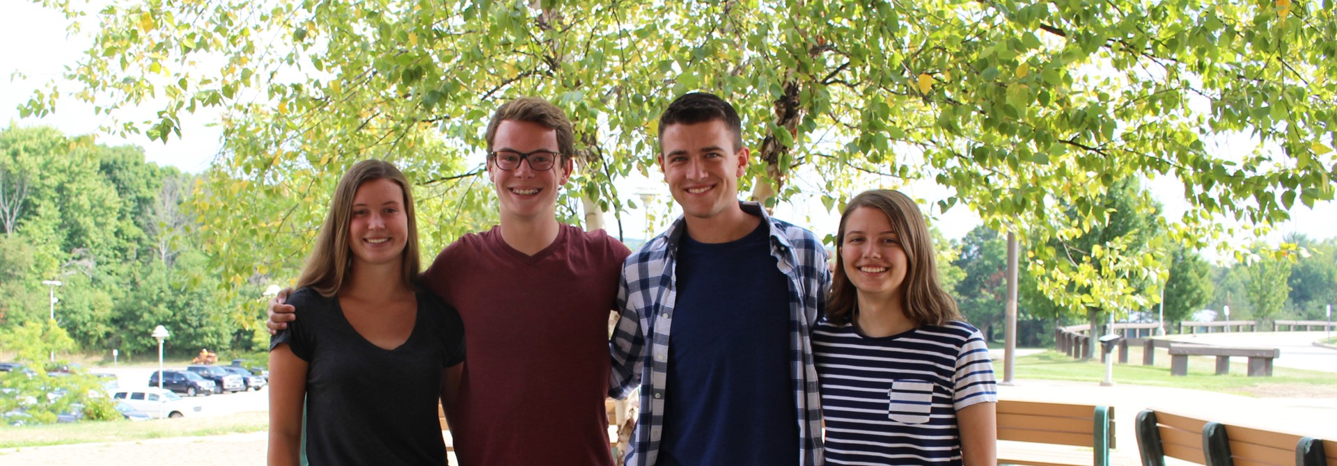 2017 National Merit FINALISTS: Alaina Monroe, Christopher Wright, Braden Webb, Kelly Meaden