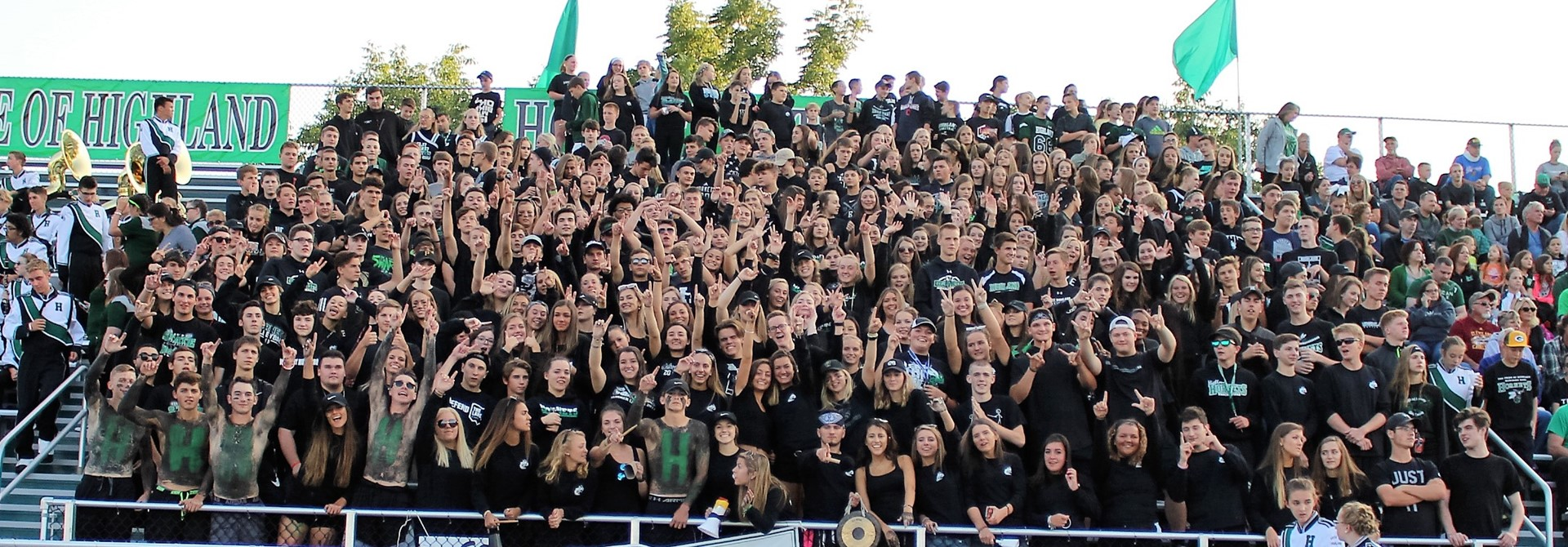 Photos of Student Crowd at Football Game