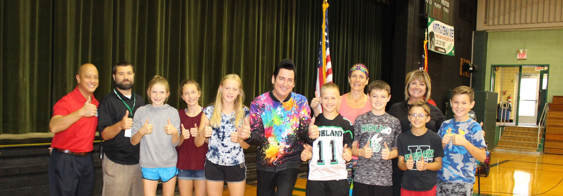 Retro Bill Visits Highland Middle School