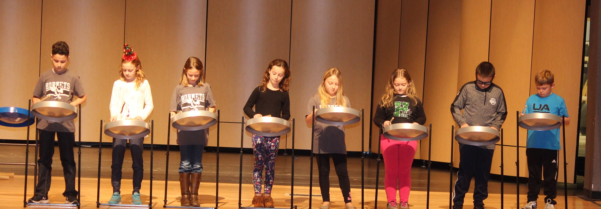 Sharon 3rd Graders Work with Members of Akron Steel Drum Band