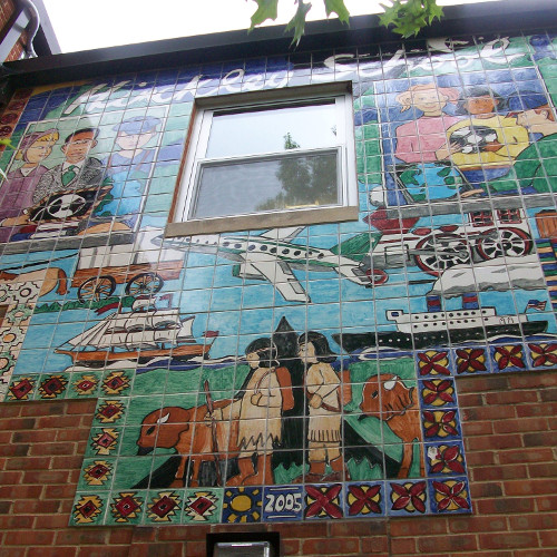 Outside Mural at Hinckley