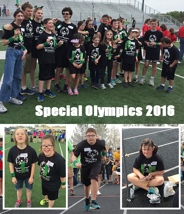 Photos of Highland Students Taking Part in the 2016 Special Olympics