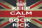 British Flag that says Keep Calm and Book Rick
